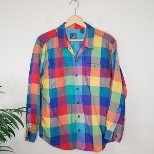 90s Vintage LizWear | Men's Colorful Plaid Shirt